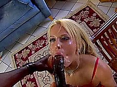 Holly came to visit the US for the BBC studs and she takes on one of the biggest in this scene.