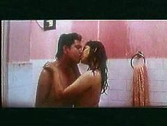 Watch exciting home made video of one kinky couple from India. Boyfriend plays with her juicy tits in the shower and later they kiss passionately.