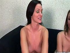 Playful whores are up for any new kinky stuff in sex games. So, brunette one gets her cunt stretched wide while getting fisted by her freaky partner.