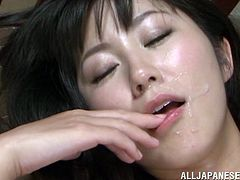 Japanese porn is what we are talking about in here! Marie Kimura gets fingered and plays with his dick meanwhile! Then he bangs her so fucking hard!