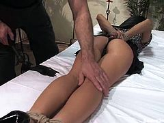 Dirty minded cock sucker Cassandra Cruz gets painsulted
