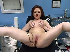 The patient in the hospital is getting toyed and tortured with pleasure by a naughty nurse in this BDSM lesbian video going on in the gynecologist's clinic.