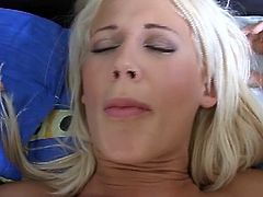 Watch a horny blonde belle getting her shaved slit spectacularly fingered into a breathtaking explosion of pleasure.