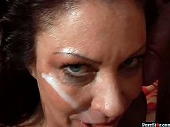 Be pleased with professional sucking head. Milf does her best and makes him cum right on her face. She adores every drop of slime cum.