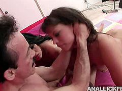 Two insatiable hotties with fine asses have to enjoy each other while they fight over this stud's cock in the hottest threesome sex scene ever! Press play and enjoy the action!