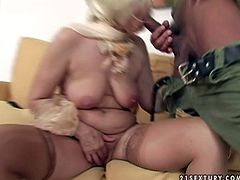 Outrageous porn clip featuring feisty granny that is sexually addicted to young men. This mature woman stills is full of lust. So watch her sucking dick deepthroat acting wild and naughty.