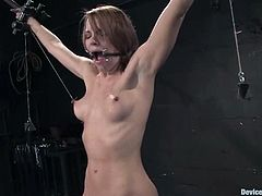 Kinky milf Dana Dearmond is playing dirty games with a guy in a basement. She lets him tie her up and seems to enjoy it much.