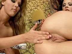 Dude, don't pass by this mad but steamy masturbation in 21 Sextury xxx clip. Torrid brunette and sexy booty blondie rubs wet shaved pussy. Both slender gals with natural tits have a kinky plan tonight. What about masturbation with a metal baseball bat?