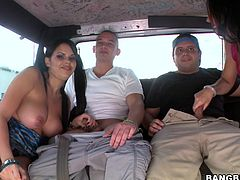Watch these ladies having fun with these hard cock as they take a ride inside the bang bus just looking for pleasure.