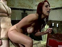 Nicki Hunter is going to strapon fuck a guy, force him to eat her pussy and fuck her hard in this femdom video where she shows him who the boss really is.