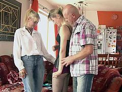 She has A 3some beside his old parents