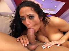 Busty brunette babe Carmella Bing takes four guys at the same time, babe gets her mouth brutally fucked. They fuck all her holes mercilessly and she moans and can't catch her breath because of all the cock she's receiving.