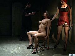 THere are so many hot sex slaves, but the lucky ones to be tortured this time are Ariel X and Claire Adams. So they get bondaged with ropes and drilled in their muffs!