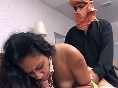 This mov opens beside Exotic AsIan pornStar Named Samtra. sthat bloke comes inside clad inside this guyr traditIonal garments and Starts giving these boyz a  show by Moving her hip to reveal off her AMazing belly Dance wHile two men admire her Beauty and took out their Rock hard dicks.