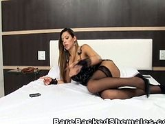 See this spectacularly sexy Latin shemale flaunting her hot body while exchanging blowjobs with her man Then she's ready for her ass to be barebacked balls deep into a massive orgasm.