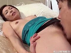Hot ass Mika keeps her thighs spread wide as these guy play with her hairy pussy. One of them gives her cunt a mean lick that turns her insanely horny! She then gets her ass hole and pussy fingered but surely, she likes it more in the ass!