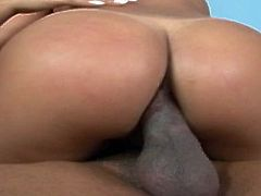 Sabrina and Lorena are two sexy Brazilian ass whores. They take turns at pleasing this guy's cock with their butt holes.