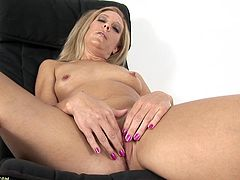 Charli Shay is a horny mature blonde looking to make your dick as hard as a rock. Watch this solo video where she plays with her wet cunt.