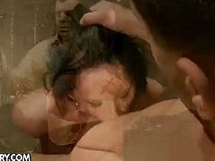 Antonio puts weights on Sheala Brill's pussy lips, whips her and fucks her senseless in her cunt hole and ass hole.