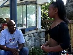 Slender black teen cutie gets picked up by experienced beefy dude. He lures her home where he persuades her to give him a head in sizzling hot sex video by Pornstar.