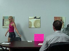 Wild secretary is eager to feel her boss drilling her tight ass in top anal office porn