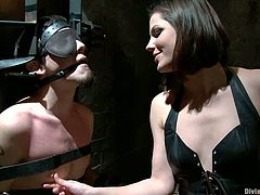Bobbi Starr is going to strapon fuck this guy in this pegging and femdom session that sees the guy become a cuckold too.