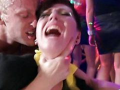 Hottest real party babes riding on cock and cant get enough