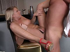 There's going to be hardcore anal sex in this video featuring the blonde Lucy Hart and she is more than happy about that.