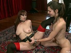 Two kinky and sassy sirens Bella Rossi and Kristine Kahill are going so wild with each other! they get naked and start making out with each other for a hot lesbian perversion!