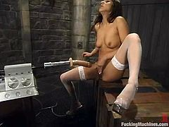 Nadia Styles gets terrifically banged by a fucking machine