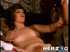 Babes with hairy cunts having deep sensations during top vintage porn hardcore scenes