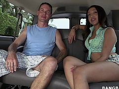 Milf Vicki Chase is picked up by the bang bus for a good, long fucking. She jerks cock while she gets her tits felt up and after that, she sucks some dick. She loves getting her pussy eaten and then, as she's fingered she keeps jerking the guy's penis.