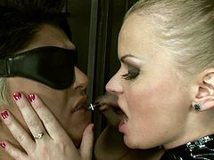 21 Sextury xxx clip is what you need to jack off and jizz at once. Dominant blondie wears black tight dress. This bitch ties up vulnerable booty brunette with ropes. Then spoiled chick jams submissive gal's tits and rubs her clit madly.