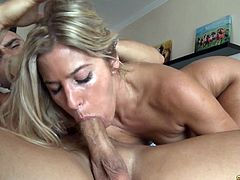 Big ass beauty gets a long dick to stretch her holes in superb anal hardcore