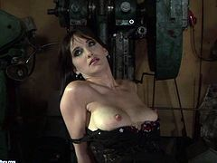 Are you a fan of femdom or bondage? Then you get a chance to enjoy both steamy actions in 21 Sextury xxx clip. Horn-mad brunette in corset ties up slim girlie with ropes and jams her nipples madly causing loud moans of pain and delight at once.