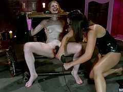 This is how a lesbian BDSM looks like. It is even crueler that a man vs girl, as girls can be so severe on each other. Sinn Sage is the slave and Ela Darling makes her feel some pain!