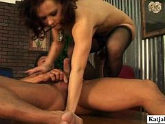 Katja Tommy is one another chick who likes it hotter and she is ready to serve her boss at the highest level. He pokes her hard right on the table.