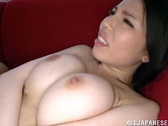 This petite and kinky Japanese siren is spreading her sexy legs wide to give her man her wet and tight bushy beaver! She loves sex so bad!