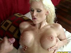 Nasty blonde milf gets the full package in full outdoor hardcore porn session