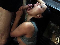 cute girl moans as her cunt is eaten out