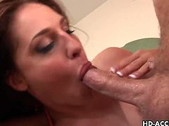 Lauren Phoenix gets pounded in her pussy and ass hole separately before these guys fill both her holes at the same time.