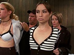Amber Rayne and Ariel X get tied up by some hot girl. She tortures the sluts and plays with their nice holes.