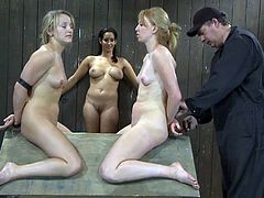 Ami Emerson and Isis Love get tied up. Later on they get their bodies and tongues clothespinned. It looks like they really enjoy it.