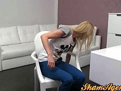 Skinny blonde czech girl fucked in a casting office