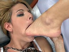 East Europe wonderful girls lesbian footdom (three scenes)