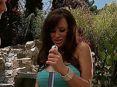Hot milf Lisa Ann fucked outdoors