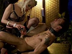 Lorelei Lee is going to strapon fuck a guy and ride his dick in this femdom video where she shows him who the boss really is.