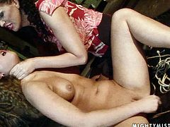 Skanky curly dark haired chic stands in doggy pose bandaged while a creative domina studs her cunt with a dildo. Later she forces her give it a head in perverse sex video by 21 Sextury.