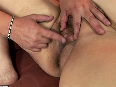 Dirty-minded too fat old whore gets her wet mature cunt fucked with toy