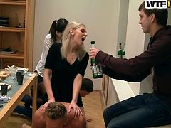 Group of friends meets in one home and just have a drinks and so on.After they started to play with each other.All girlies sit on a back side of their guys and it makes feel them like they are riding a horse which bring them a big pleasure.Watch this sex tube video.